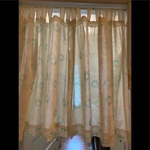 2 Panels - Original Artist-Made Stamped Curtains